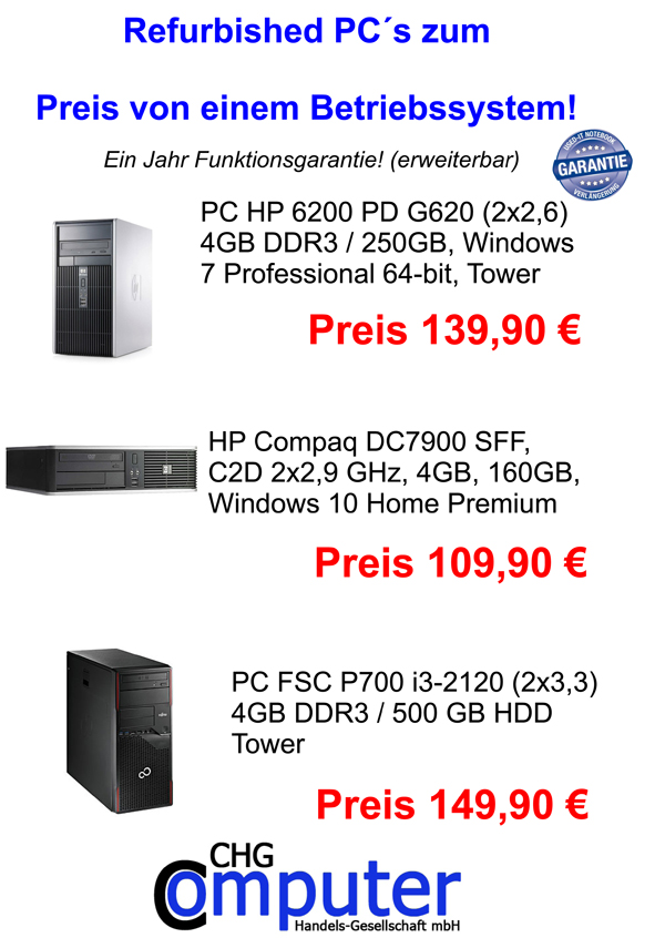 Refurbished PC´s